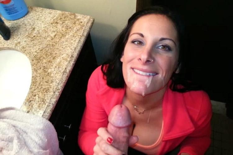 Aline, milf fan de sperme 5